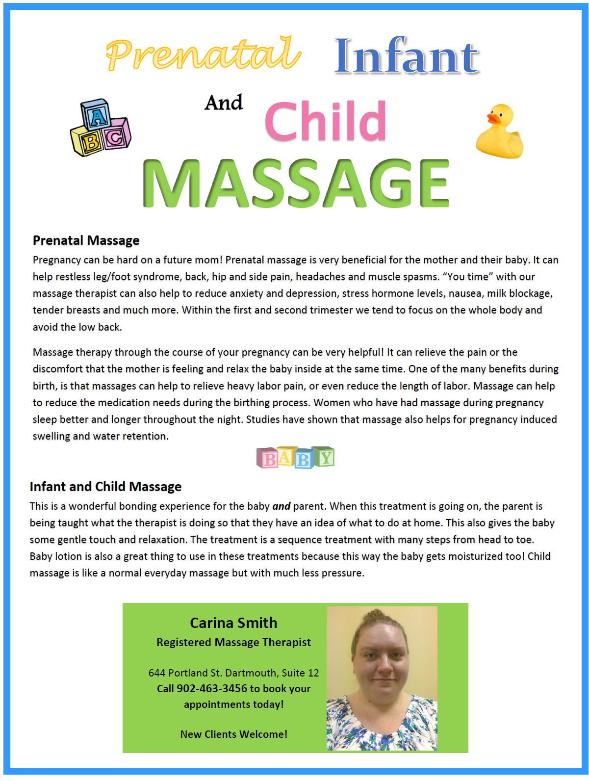 Prenatal, Infant & Child Massage